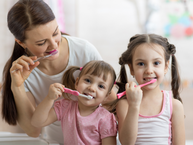 Brushing is important for the whole family